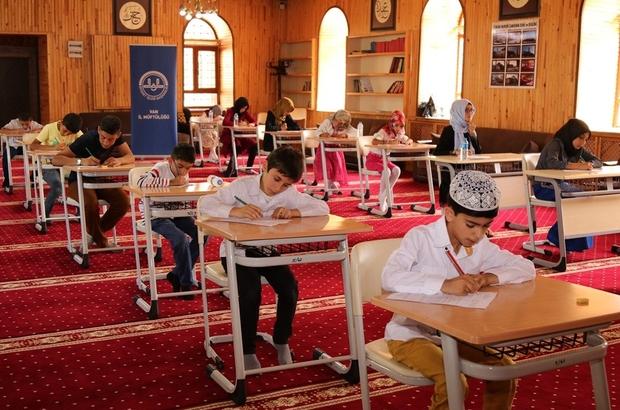 Yaz Kur'an kursu öğrencileri arasında yarışma