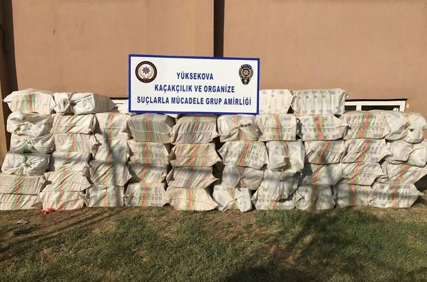 Yüksekova'da 23 bin 500 paket kaçak sigara ele geçirildi