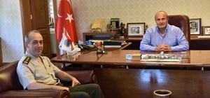 İl Jandarma Komutanı Özbek'ten Başkan Arslan'a ziyaret