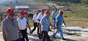 Vali Çeber, Keltepe 'de incelemelerde bulundu