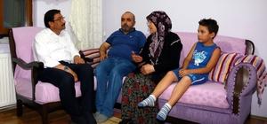 Başkan Ak'tan 15 Temmuz gazisi Cihat Ünal'a ziyaret