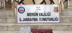 Mersin'de 149 paket kaçak sigara ele geçirildi