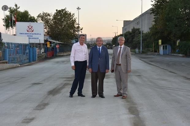 Başkan Albayrak Barbaros Caddesindeki yol çalışmasını inceledi