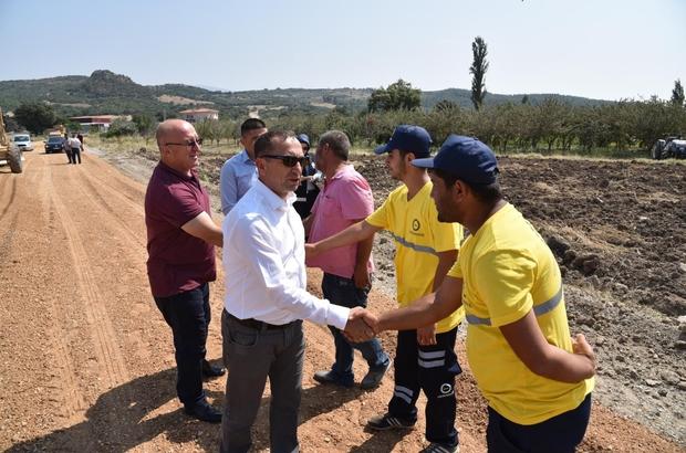 Soma'nın 16 mahallesine asfalt müjdesi