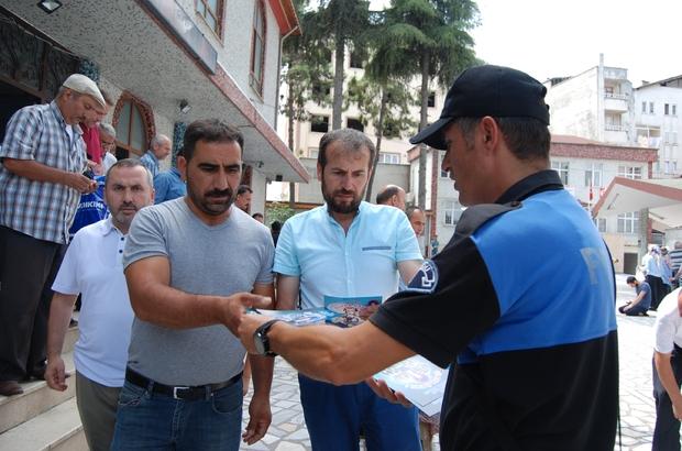Fatsa'da silaha hayır broşürü dağıtıldı