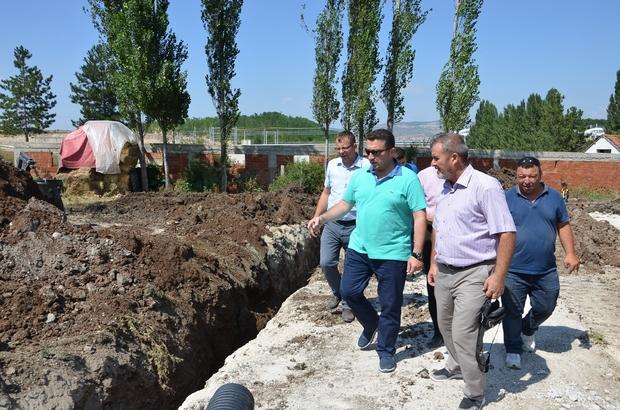 Başkan Bakıcı, İçköy Mevkii'nde başlatılan alt yapı çalışmalarını inceledi