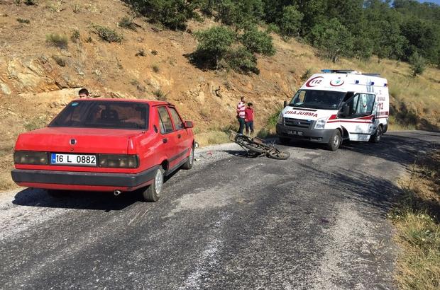 Domaniç'te trafik kazası:1 yaralı