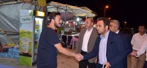 Milletvekili İshak Gazel ve AK Parti İl Başkanı Ali Çetinbaş Hisarcık Festivali'ni gezdi