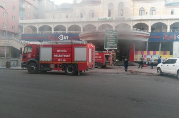 Bingöl'de market yangını