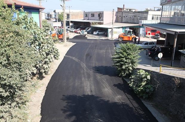 Modern Sanayi'de sıcak asfalt çalışmaları tamamlandı