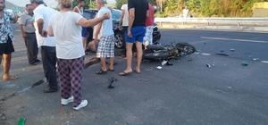 Köyceğiz'de otomobil motosikletle çarpıştı; 1 yaralı