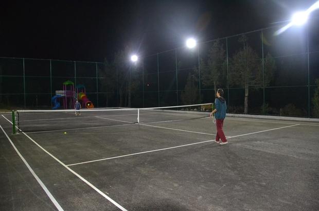Avgadı yaylasında tenis keyfi