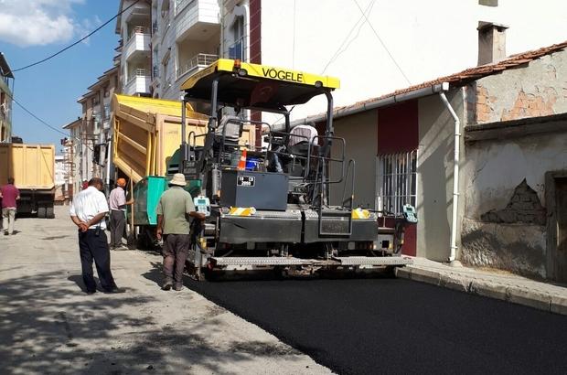 Sungurlu'da asfaltlama çalışmaları başladı
