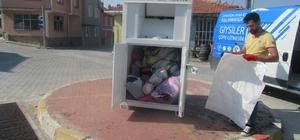 Emet Belediyesinin 'Atık Giysileri Toplama' projesine ilgi