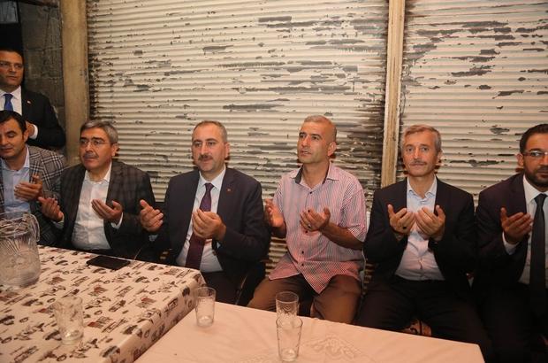 Bakan Gül'den aile ziyaretleri