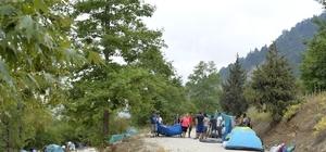 Meteor yağmurunu izlemek için kamp kurdular