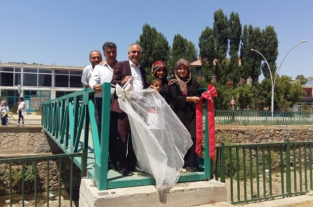 Hasköy'de köprü yapımı