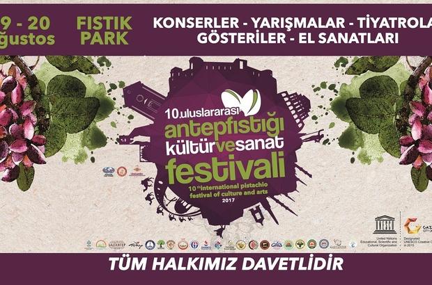 10.Uluslararası antepfıstığı kültür ve sanat festivali başlıyor