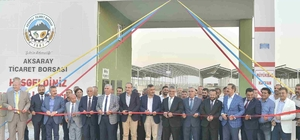 Aksaray Ticaret Borsası Canlı Hayvan Park Yeri ve Canlı Hayvan Borsası açıldı