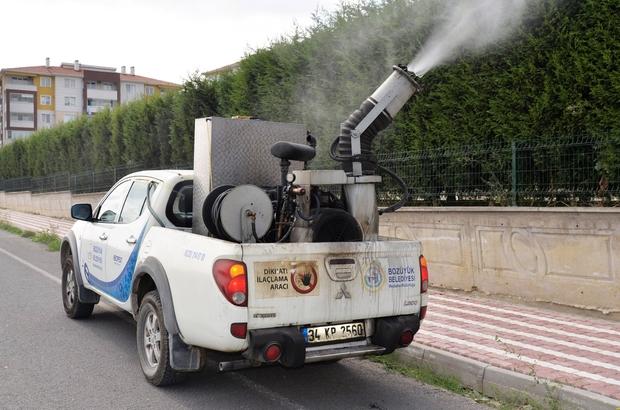 Bozüyük Belediyesi tarafından ilaçlama çalışmaları devam ediyor