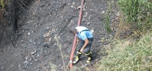 Çalılık alanda çıkan yangın söndürüldü