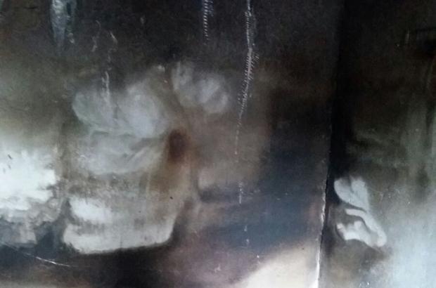 Sumbas'ta elektrik kontağından çıkan yangın maddi hasara neden oldu