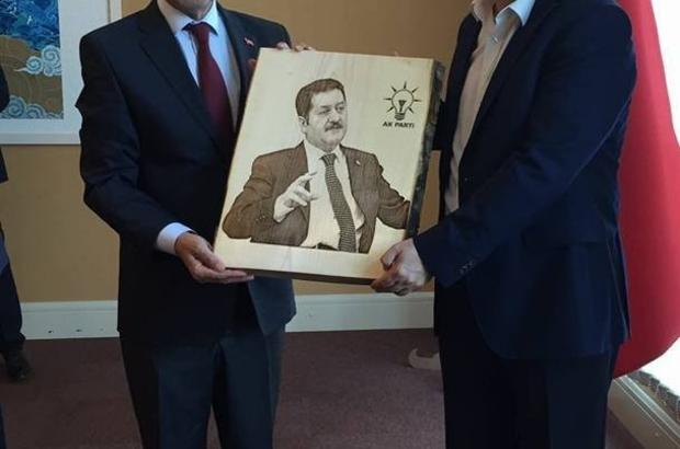 Başkan Süleyman Özkan'dan Kinay'a hayırlı olsun ziyareti