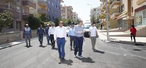 Başkan Duruay, asfalt çalışmalarını denetledi