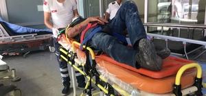 Hafriyat kamyonu devrildi: 2 yaralı
