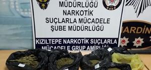 Kızıltepe'de 1,5 kilogram esrar ele geçirildi
