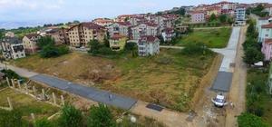 5 sokakta beton yol çalışması