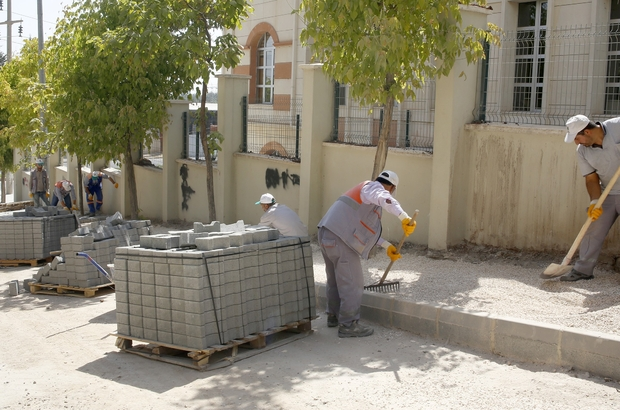 Şehitkamil'den Merveşehir Mahallesine kaldırım çalışması