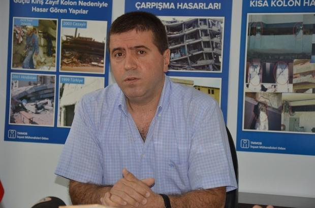 Manisa'da İnşaat Mühendisleri Odası'ndan deprem açıklaması