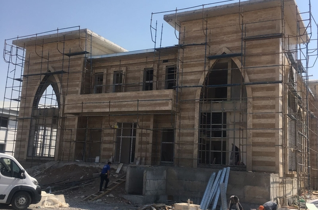 Cihanbeyli'de Oba Beyler Konağı inşaatı sürüyor