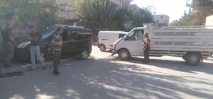 Kazada savrulan araç bahçe duvarına çarparak durabildi