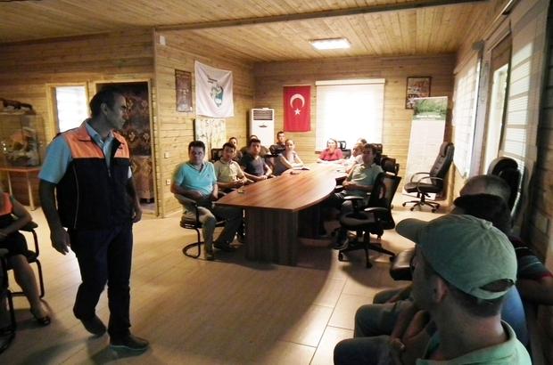 Marmaris Milli Parkında yangın eğitimi