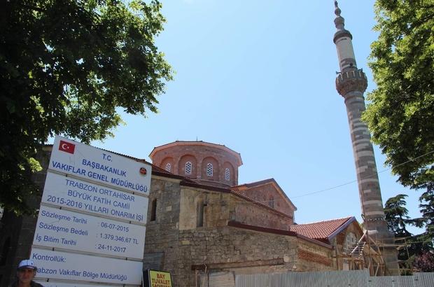 Trabzon'da vakıf eserlerinin restorasyon çalışmaları