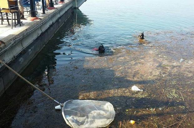 Köyceğiz'de sualtı ve kıyı temizliği