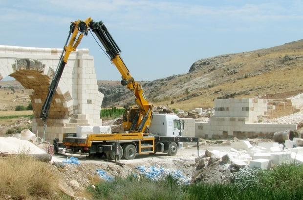 Tarihi Septimius Severus Köprüsündeki restorasyon çalışmalarında sona gelindi