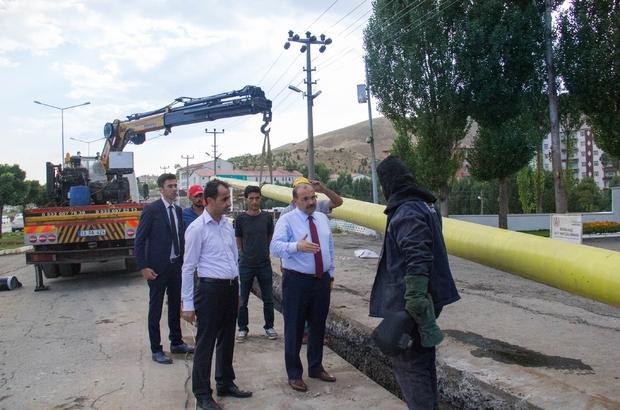 Bitlis'te doğalgaz çalışması