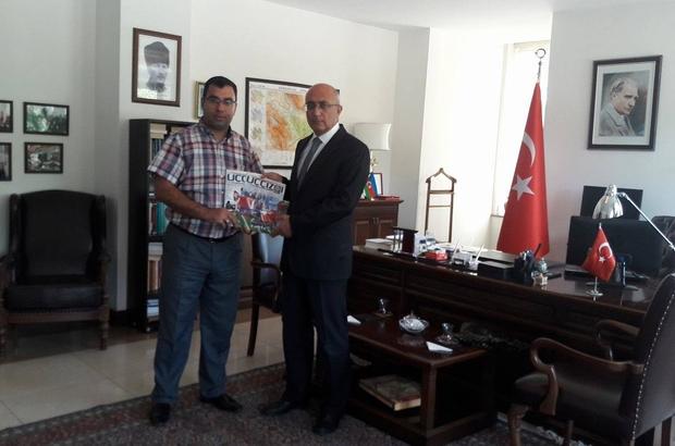 """Eskişehir Azerbaycan Derneği Başkanı Aydın'ın """"Kardeş Şehir"""" protokolü görüşmeleri"""