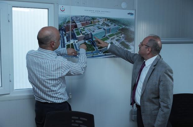 Vali Çakacak, Şehir Hastanesi inşaatında incelemeler yaptı
