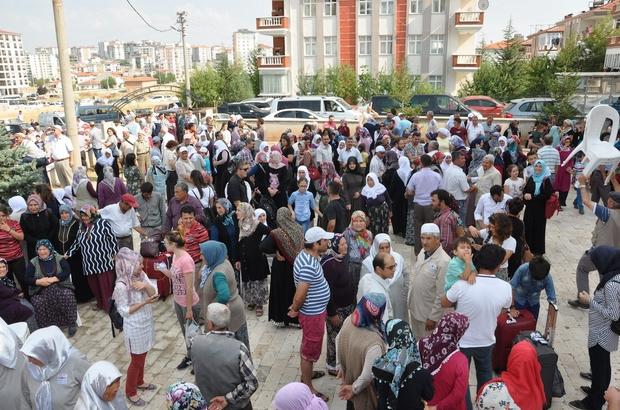 şak'ta hacı adayları kutsal topraklara uğurlandı