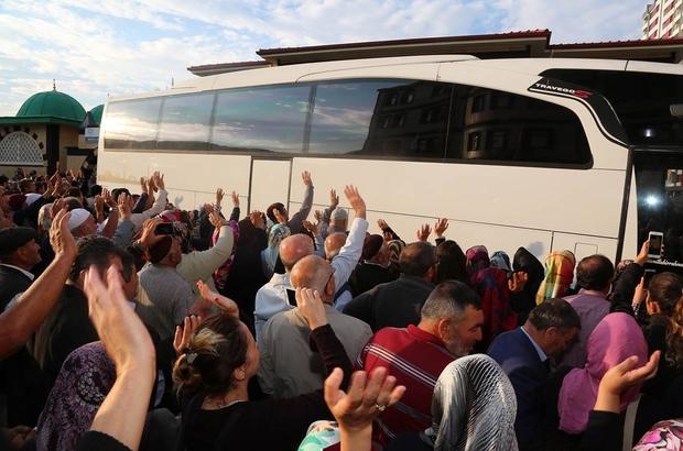 Yozgat'ta hacı adayları kutsal topraklara uğurlandı
