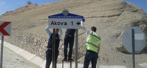 Malatya'da yön bilgilendirme levhaları yerleştiriliyor