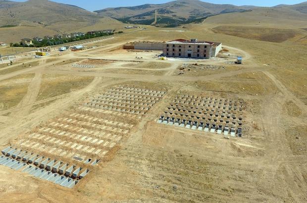 Asri mezarlık inşaatında son aşamaya gelindi