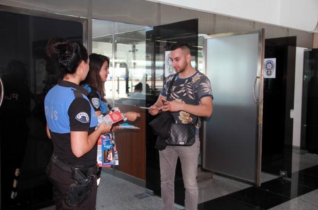 Emniyetten Kayseri'ye gelen yolculara güler yüzlü karşılama