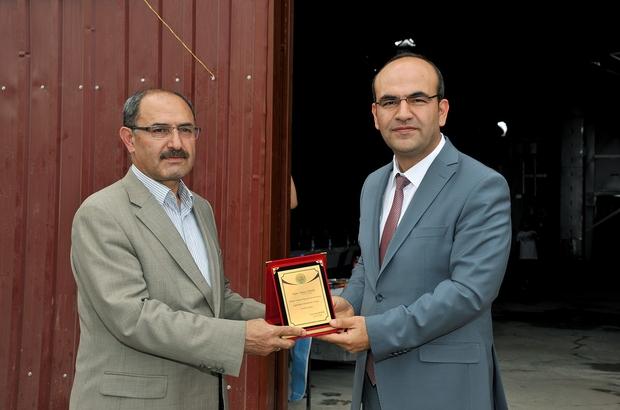 Arguvan'da hububat eleme işlerinde kullanılacak olan tesisin açılışı yapıldı