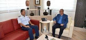 Hava Meydan Komutanından Başkan Ergün'e teşekkür