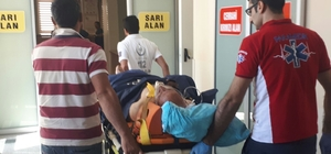 İnşaattan düşen yaşlı adam yaralandı